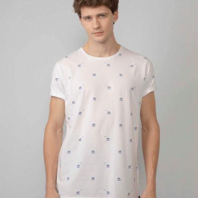 Petrol Industries Miniprint t-shirt Bright White