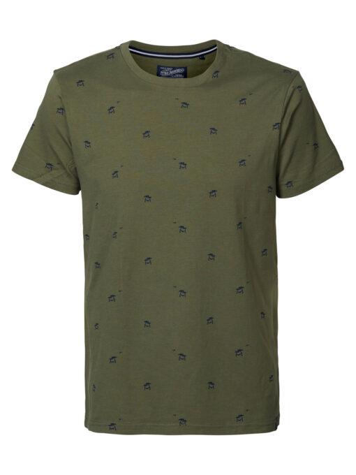 Petrol Industries Miniprint t-shirt Dusty army