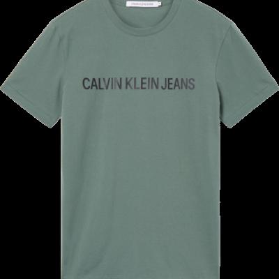 CALVIN KLEIN SLIM T-SHIRT MET LOGO Duck Green