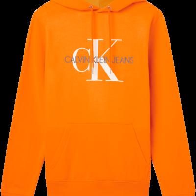 CALVIN KLEIN MONOGRAM HOODIE MET LOGO Shocking Orange