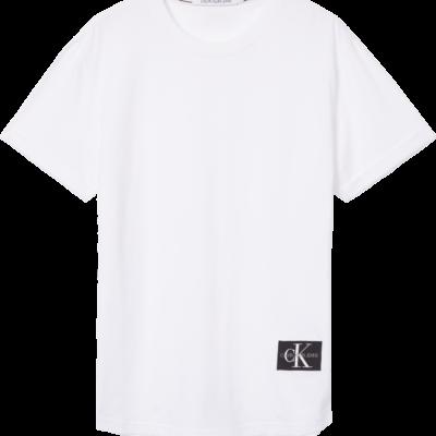 CALVIN KLEIN T-SHIRT MET EMBLEEM bright white