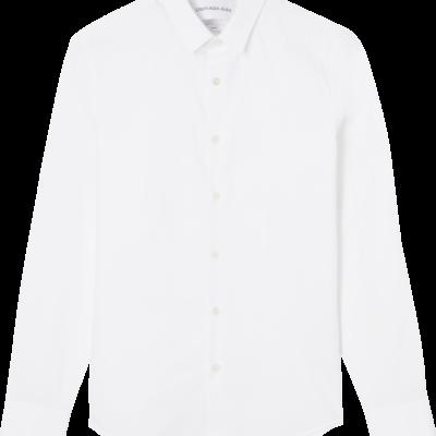 CALVIN KLEIN SLIM STRETCHKATOENEN OVERHEMD Bright white