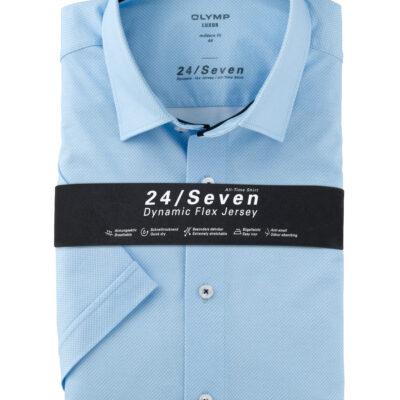 OLYMP Luxor 24/Seven Modern Fit, Zakelijke Overhemd, New Kent, Bleu