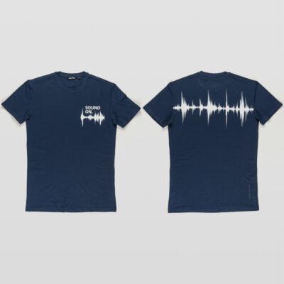 ANTONY MORATO T-SHIRT SOUND PRINT AVIO BLUE