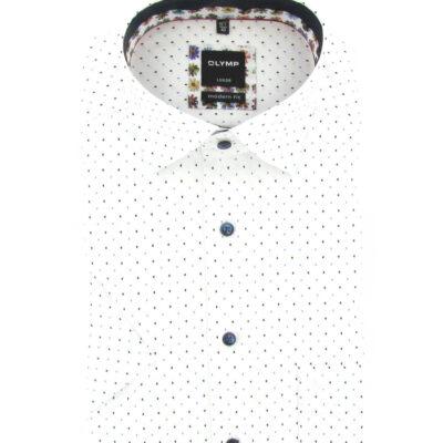 OLYMP Luxor Modern Fit, Zakelijke Overhemd, Button-Under, Wit