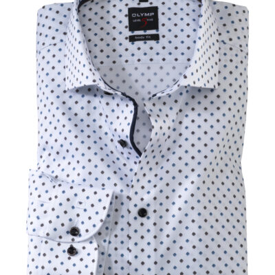 OLYMP Level Five Body Fit, Zakelijke Overhemd, Royal Kent, Bruin