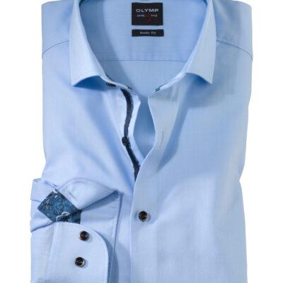 OLYMP Level Five Body Fit, Zakelijke Overhemd, Royal Kent, Bleu