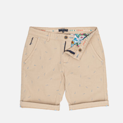 COLOURS & SONS SHORTS ICE CREAM PRINT BEIGE
