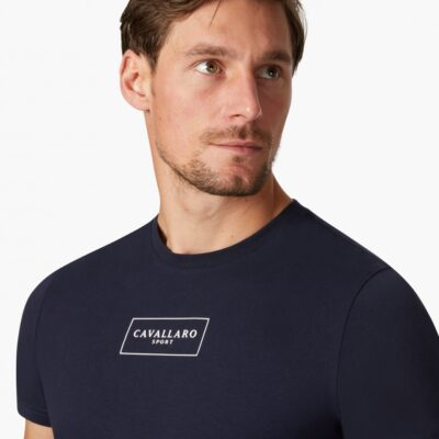 CAVALLARO SPORT R-NECK T-SHIRT DONKERBLAUW
